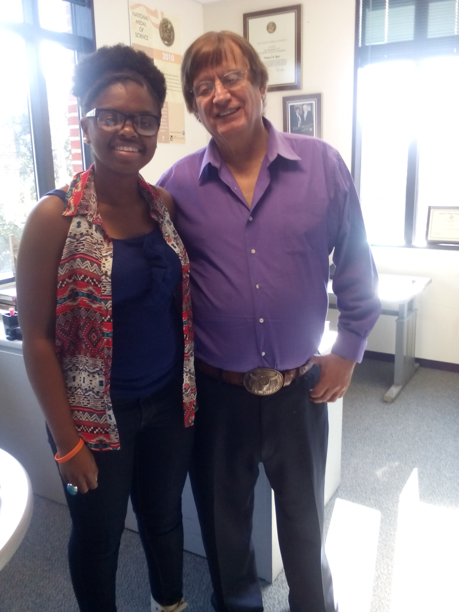 Dr Tapia and Blessing Falade