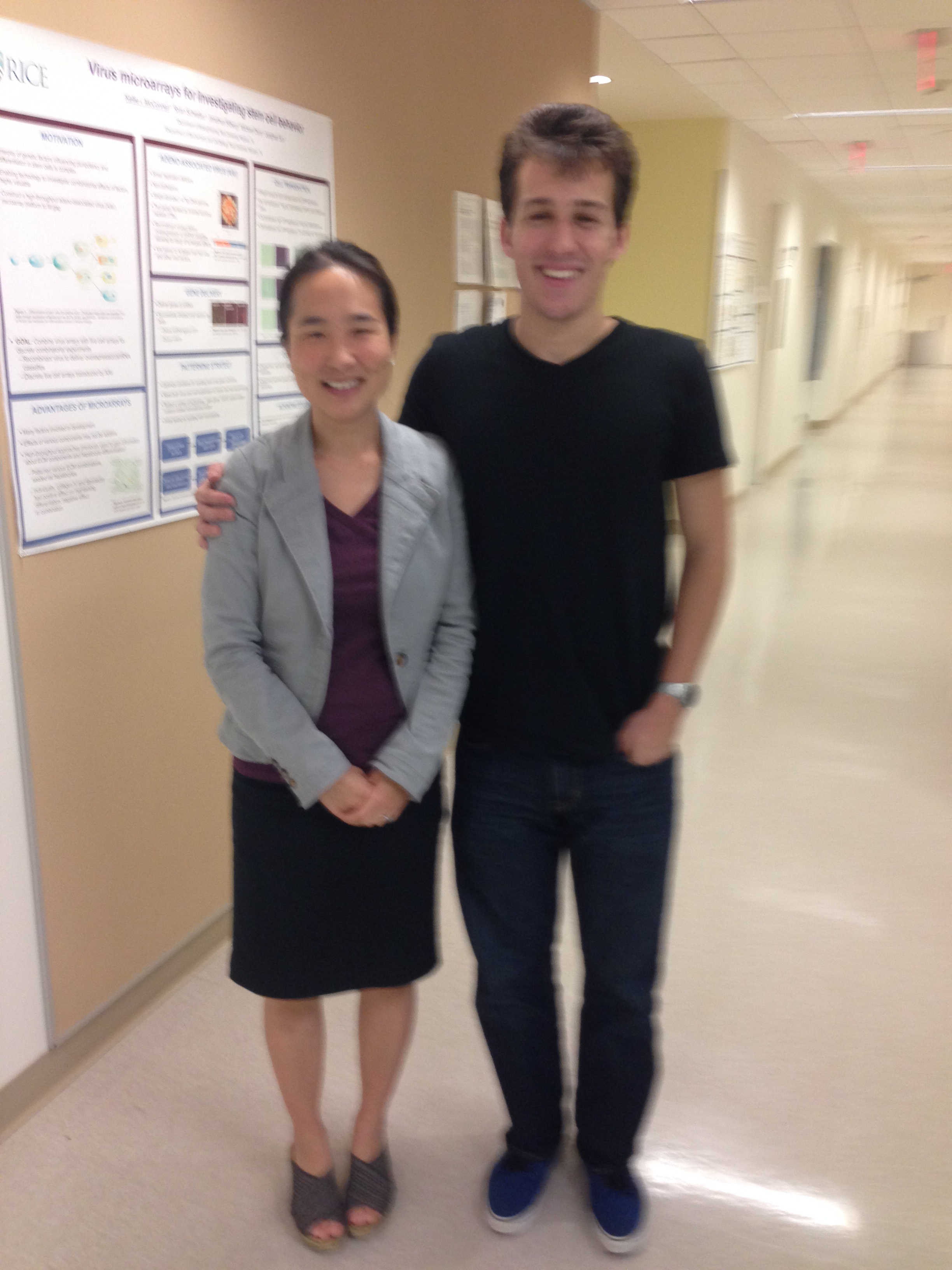 Dr Suh and Nico Medellin