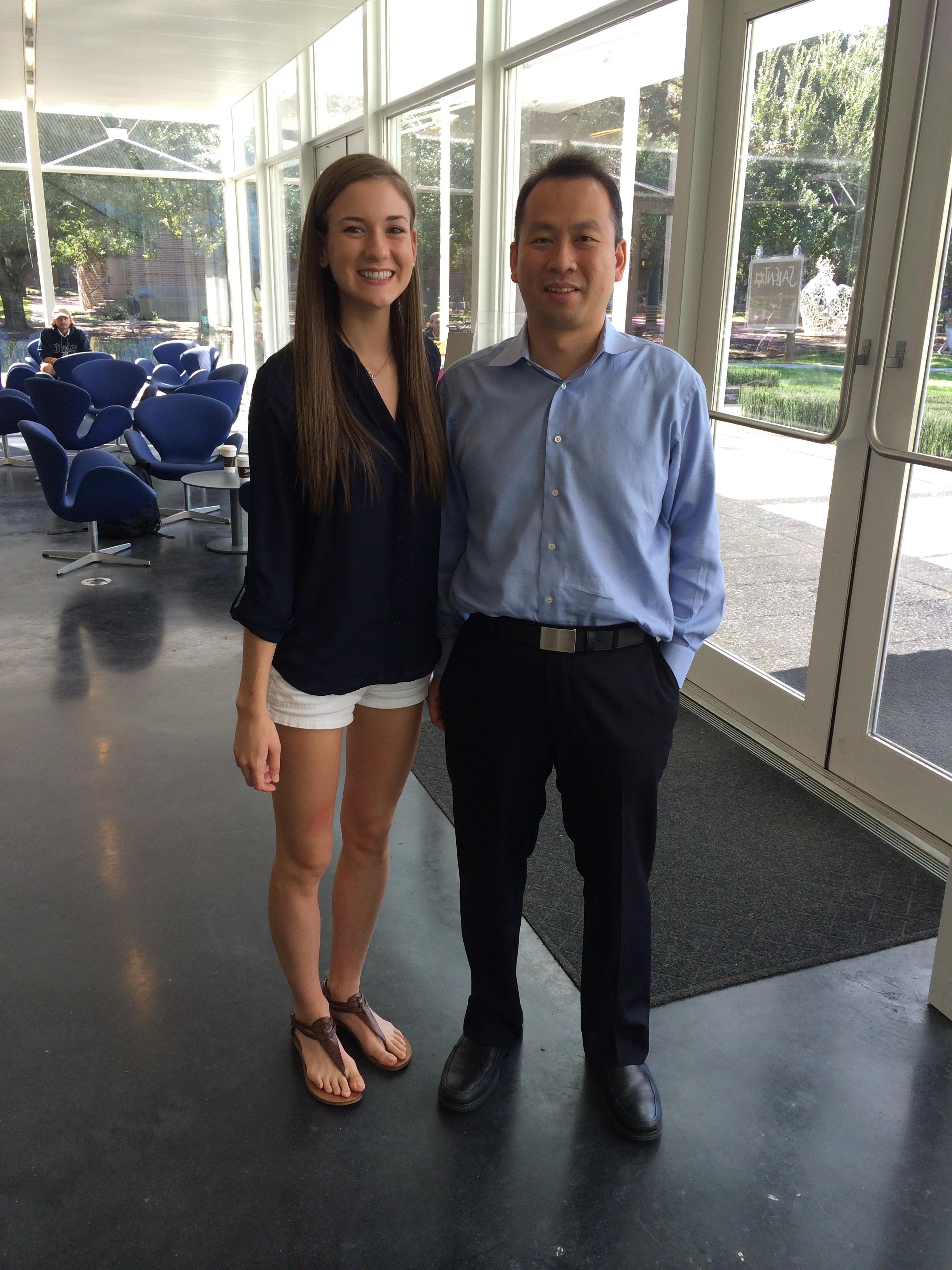 Dr Zheng and Addison Anders