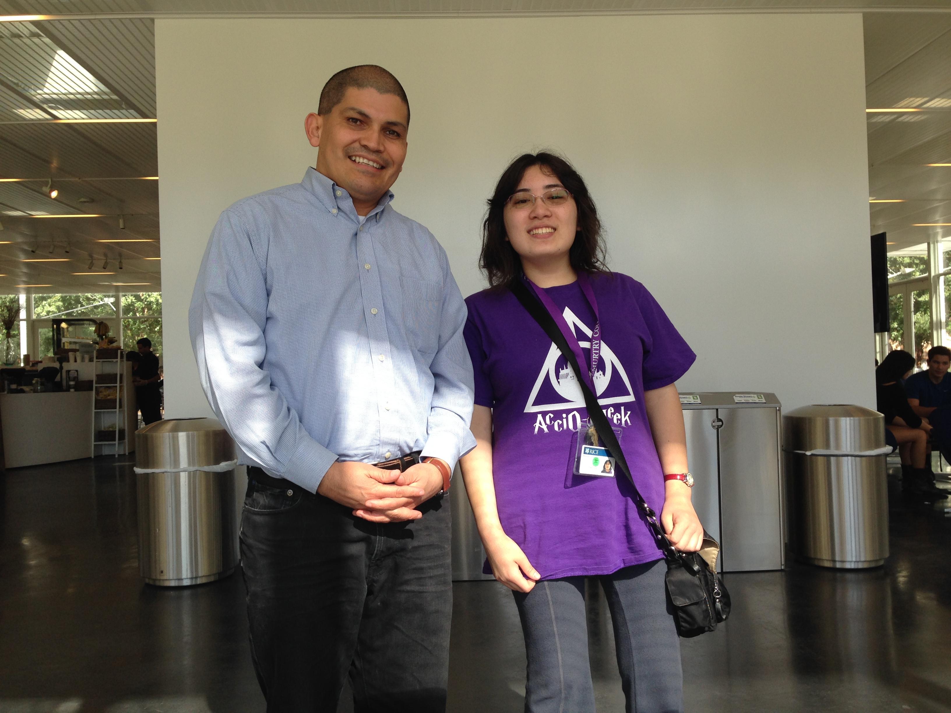 Dr Carlos Monroy and Melinda Crane