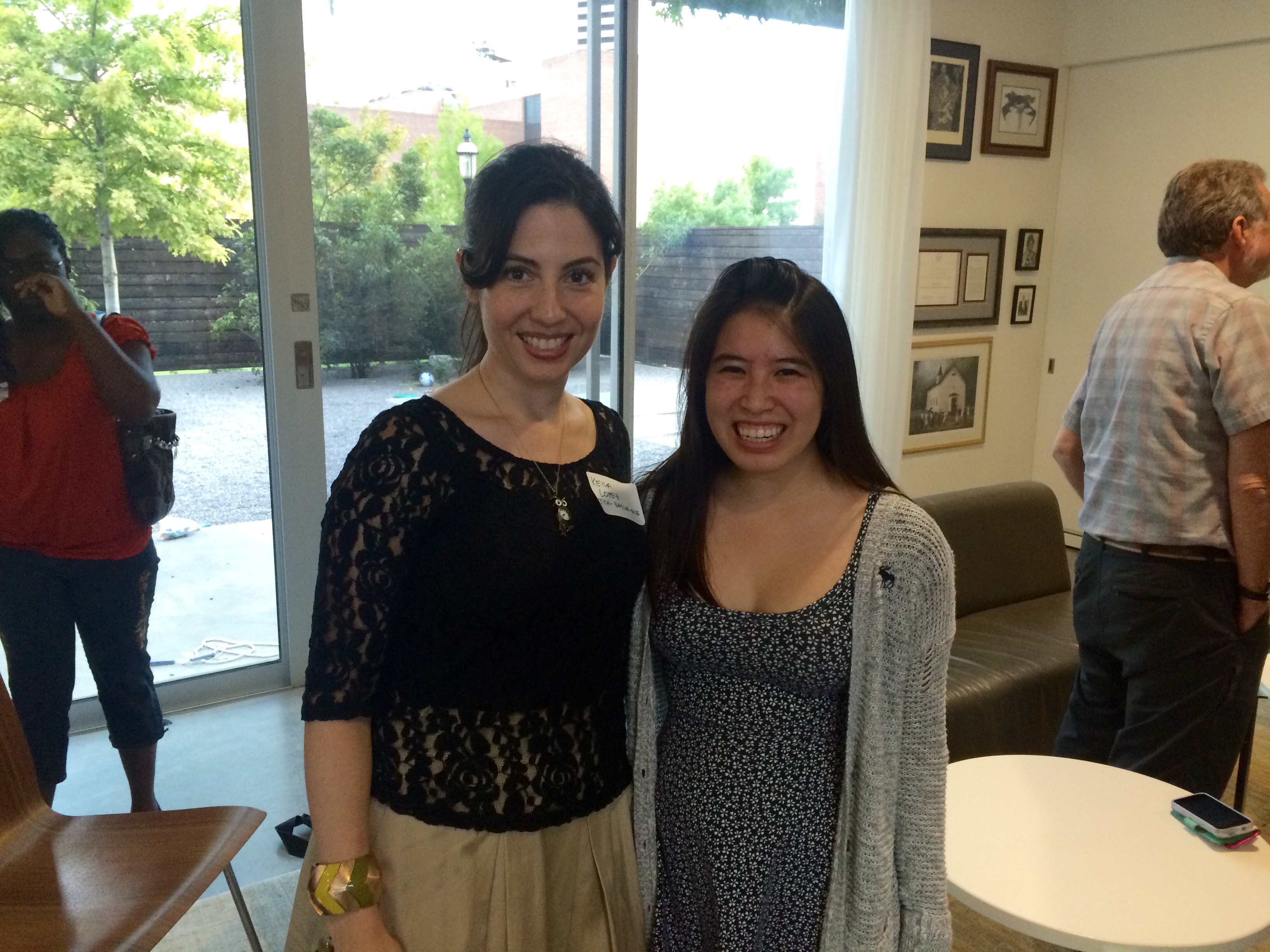 Dr Lopez and Alison Liu